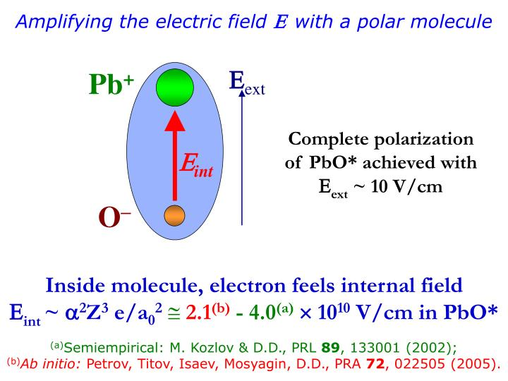 Amplifying the electric field