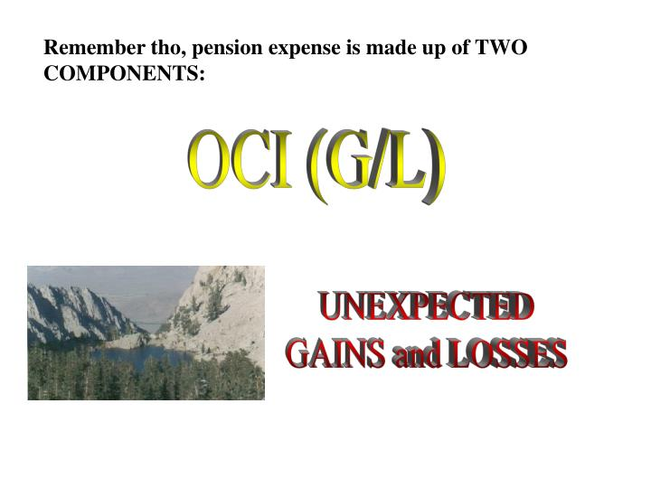 Remember tho, pension expense is made up of TWO