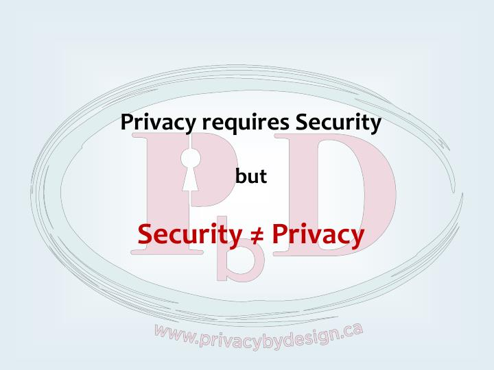 Privacy requires Security