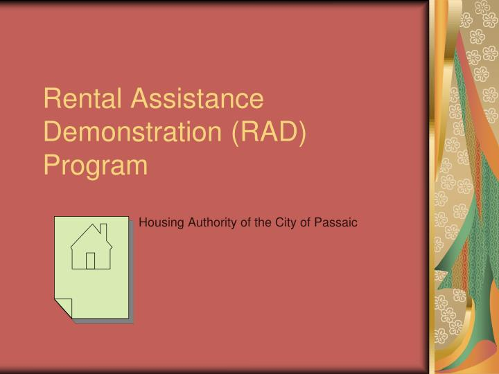 rental assistance demonstration rad program n.