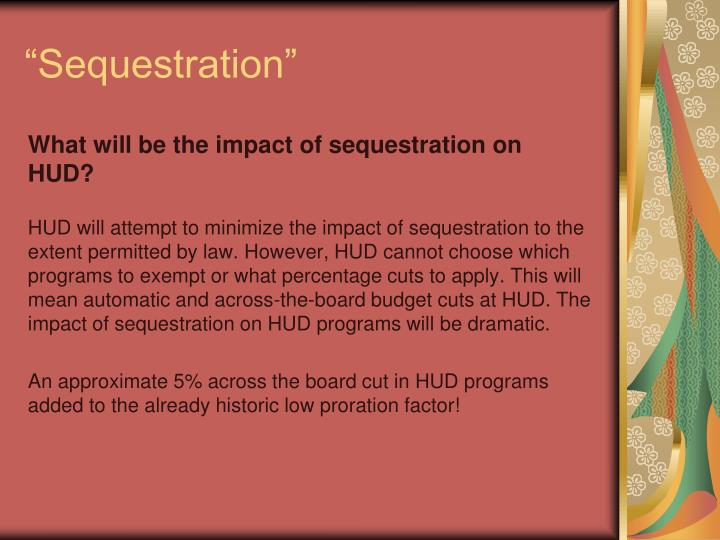"""Sequestration"""