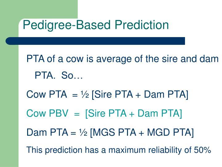 Pedigree-Based Prediction
