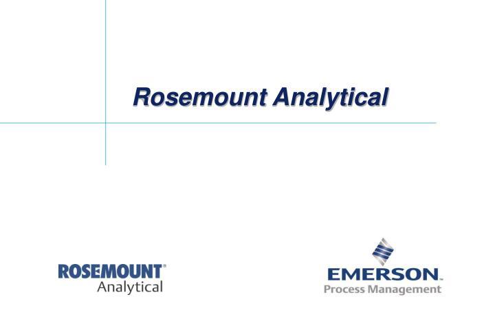 Rosemount analytical