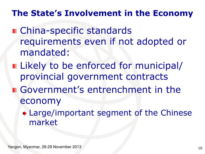 The State's Involvement in the Economy