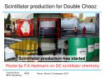scintillator production for double chooz