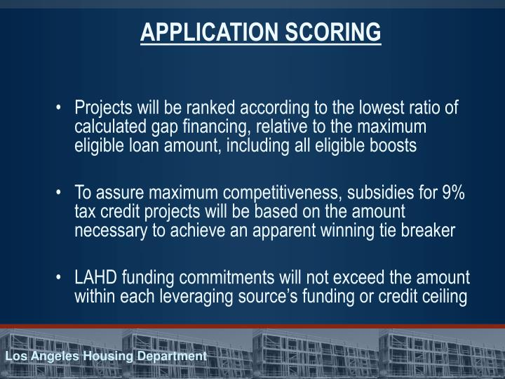 APPLICATION SCORING