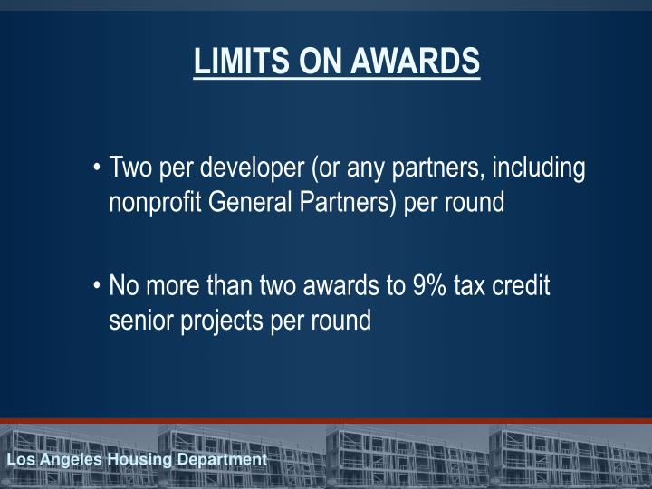 LIMITS ON AWARDS