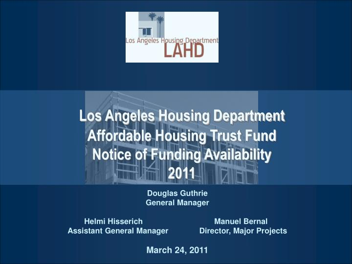 Los Angeles Housing Department