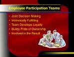 employee participation teams