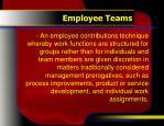 employee teams
