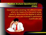 position analysis questionnaire paq1