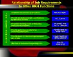 relationship of job requirements to other hrm functions