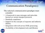 communication paradigm s