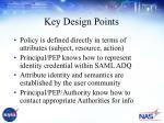 key design points