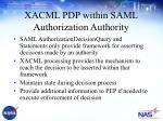 xacml pdp within saml authorization authority