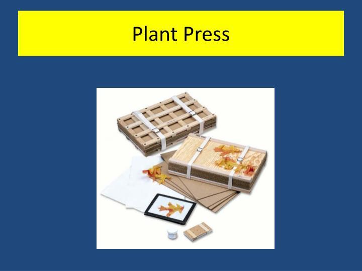 Plant Press