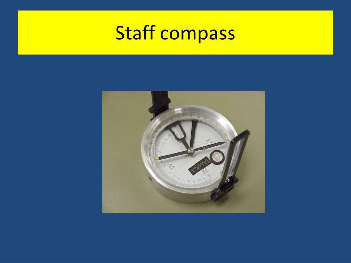 Staff compass