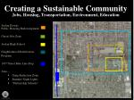 creating a sustainable community jobs housing transportation environment education