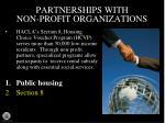 partnerships with non profit organizations1