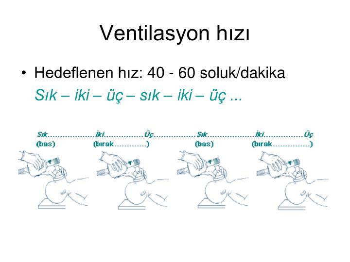 Ventilasyon hızı