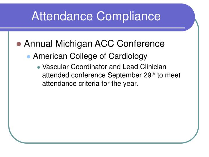 Attendance Compliance
