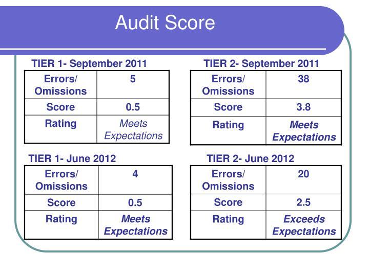 Audit Score