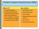 position analysis questionnaire paq