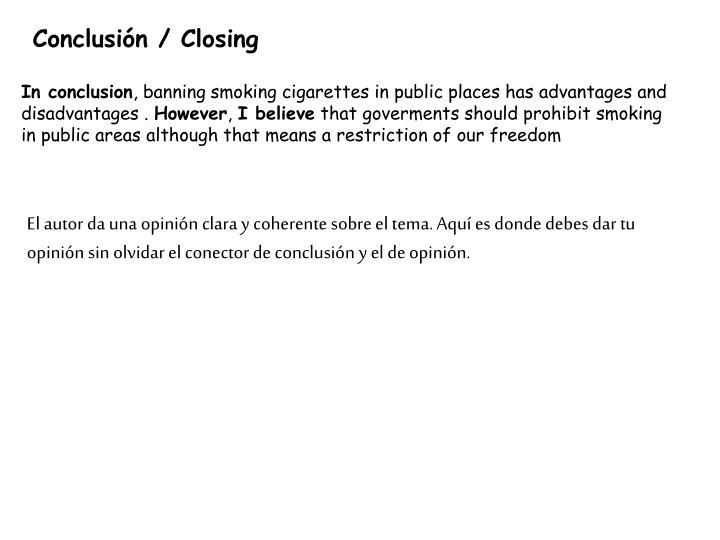 Conclusión / Closing