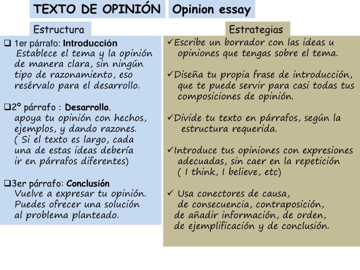 TEXTO DE OPINIÓN