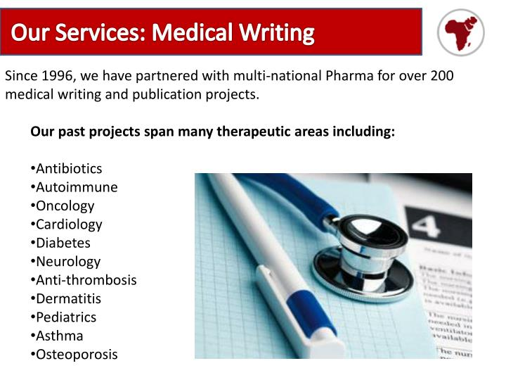Our Services: Medical Writing