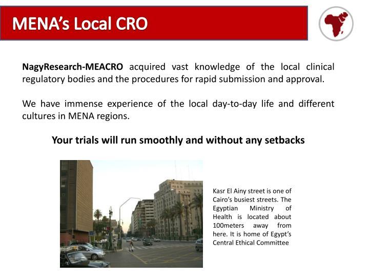 MENA's Local CRO