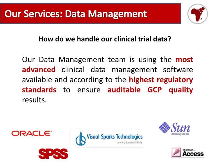 Our Services: Data Management