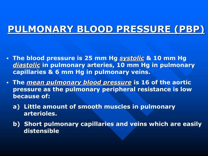 PULMONARY BLOOD PRESSURE (PBP)