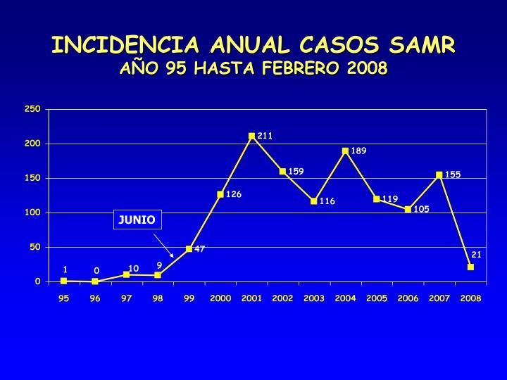 INCIDENCIA ANUAL CASOS SAMR