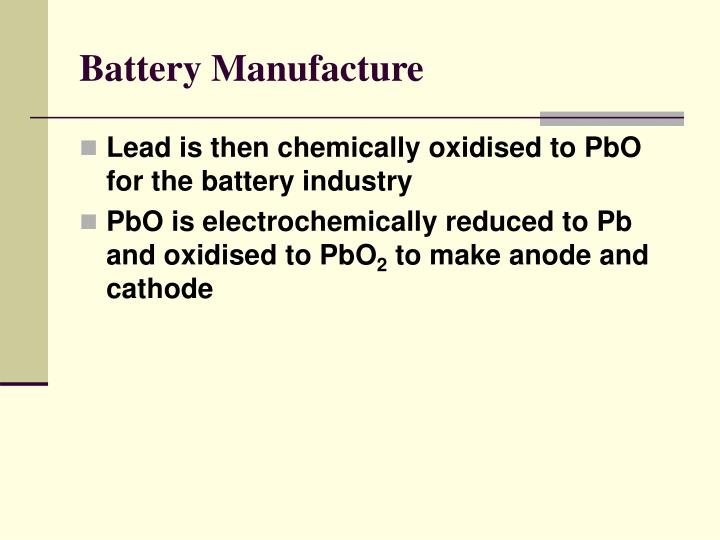 Battery Manufacture