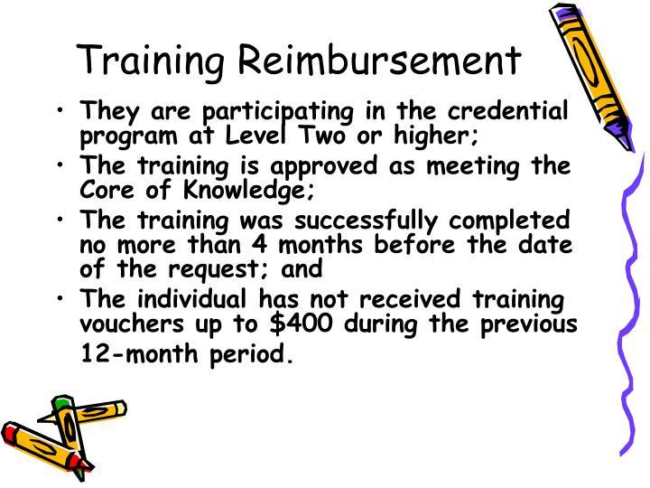 Training Reimbursement