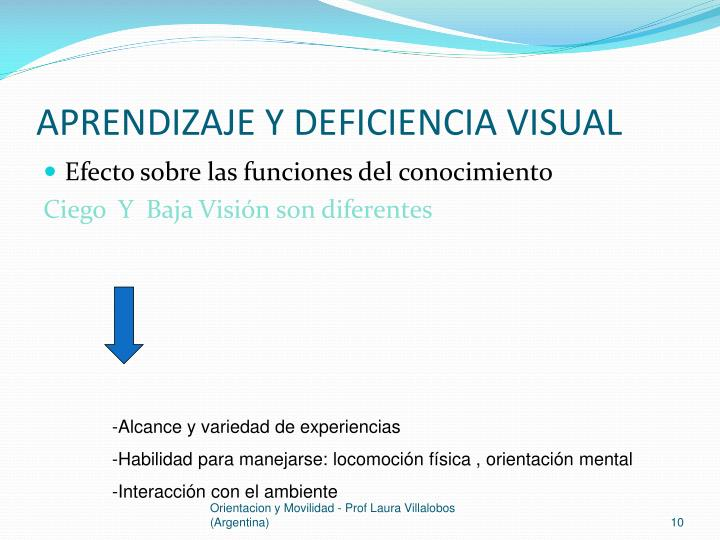 APRENDIZAJE Y DEFICIENCIA VISUAL