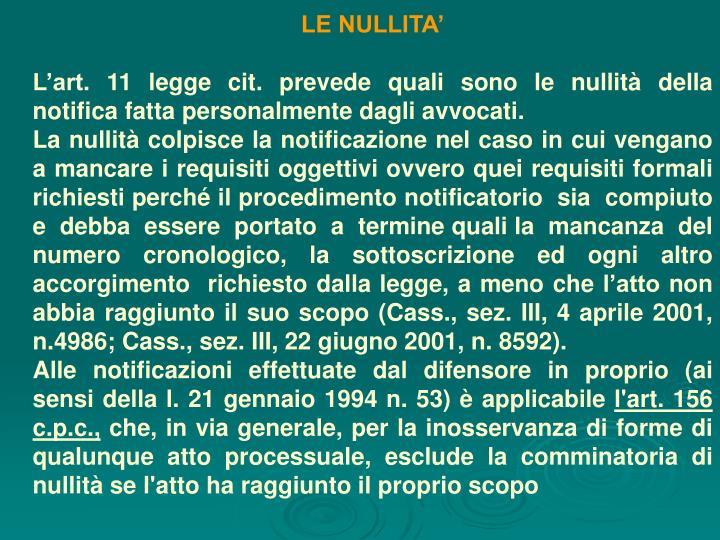 LE NULLITA'