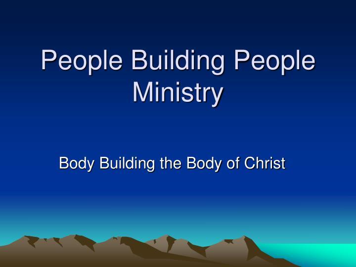 people building people ministry n.