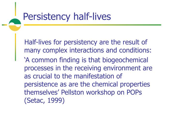 Persistency half-lives