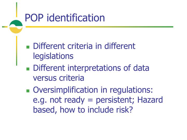 POP identification