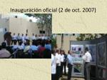 inauguraci n oficial 2 de oct 2007
