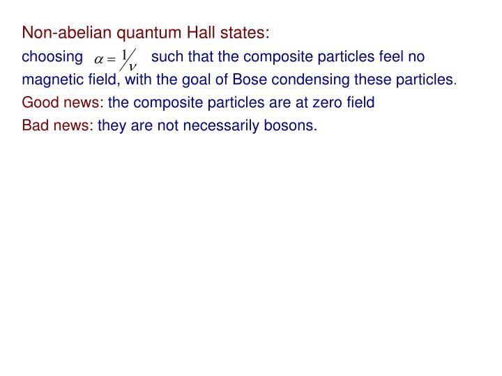 Non-abelian quantum Hall states: