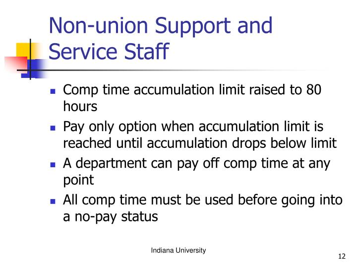 Non-union Support and Service Staff