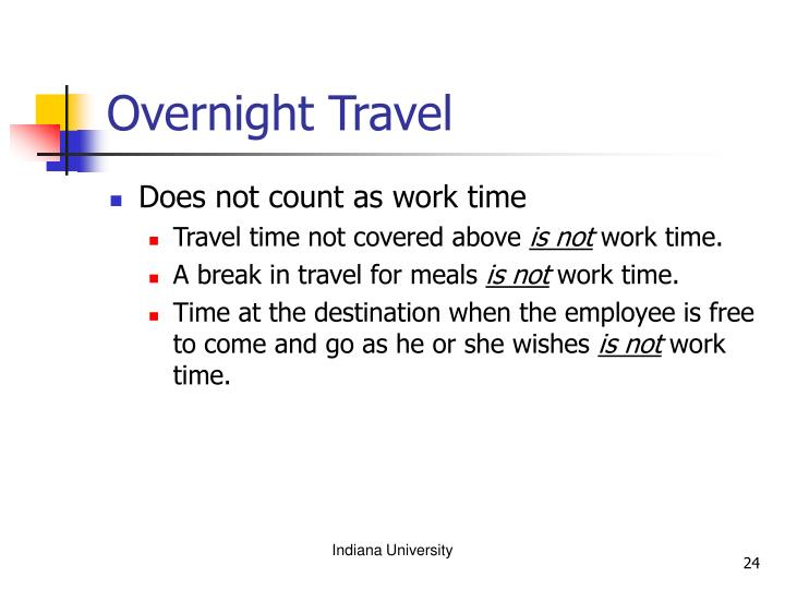 Overnight Travel