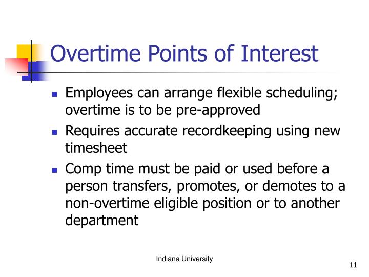 Overtime Points of Interest