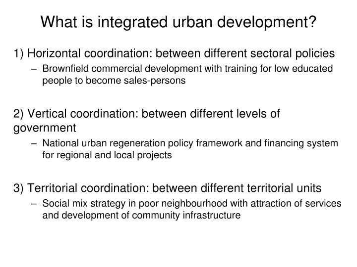 What is integrated urban development?