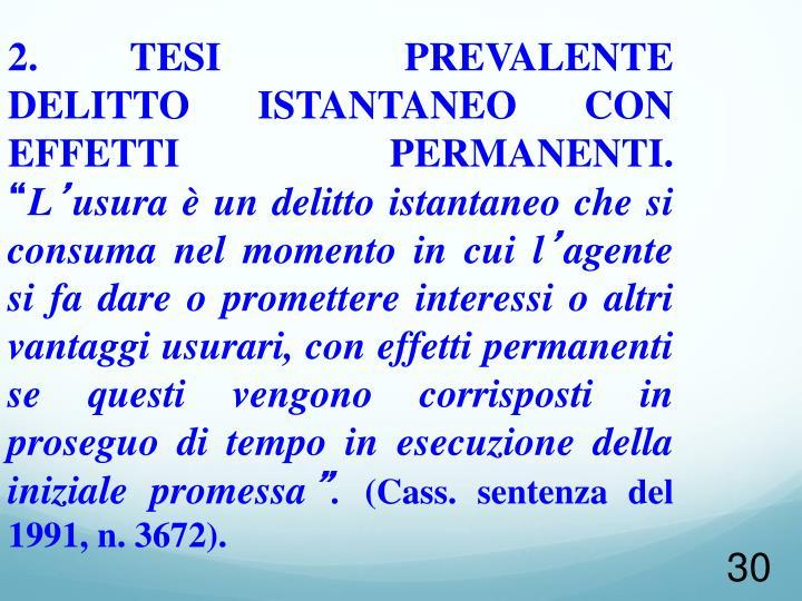 2. TESI  PREVALENTE