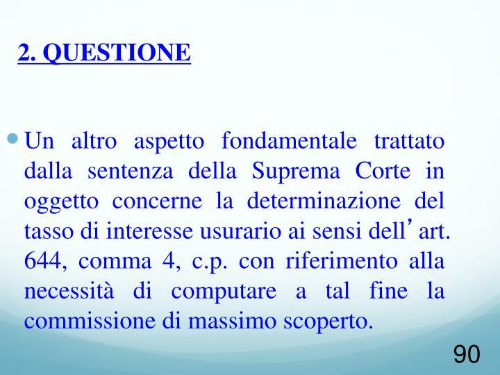 2. QUESTIONE