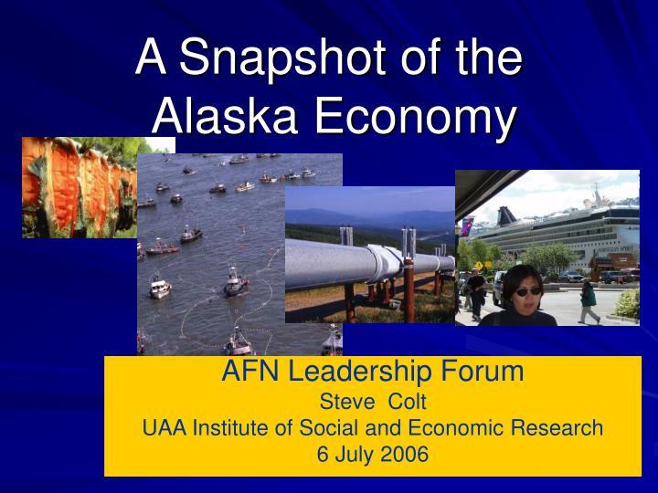 a snapshot of the alaska economy n.